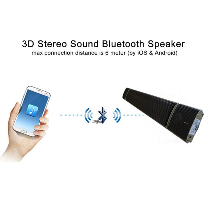 Pannello radiante con altoparlanti Bluetooth integrati