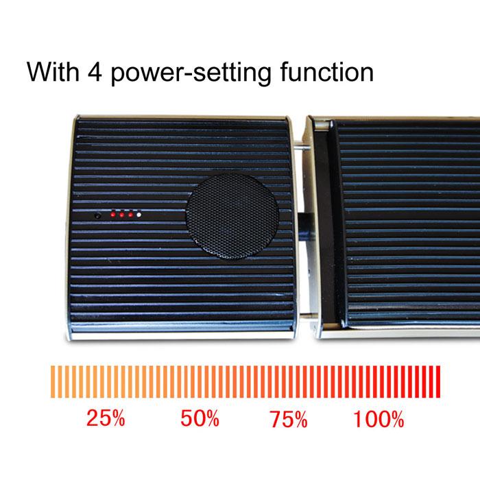 Pannello riscaldante con altoparlanti Bluetooth integrati 3D stereo per IOS e Android