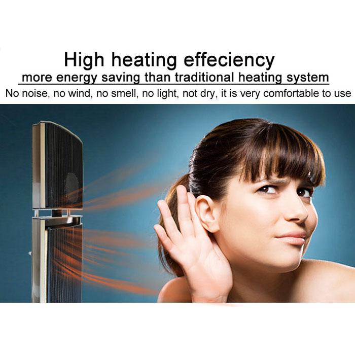 Sistema di riscaldamento a infrarossi con speaker e App per il controllo