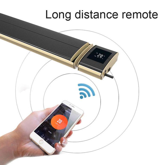 Riscaldatore infrarossi con wifi ed app dedicata per Android e iOS